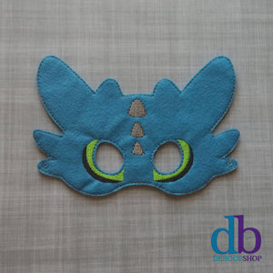 Blue Dragon Felt Play Mask