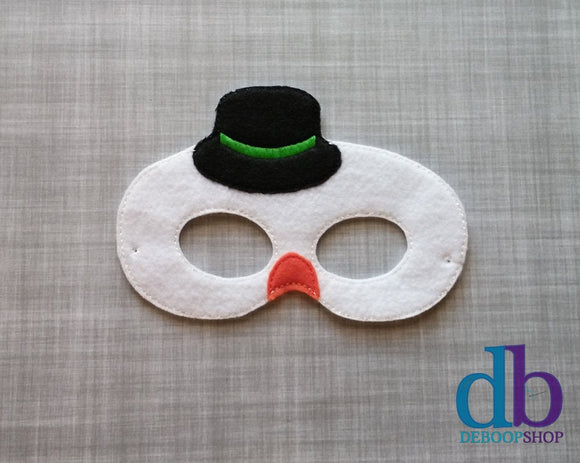 Chilly the Snowman Felt Play Mask