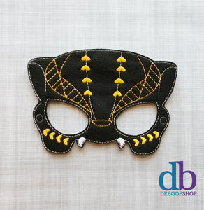 Black Panther Warrior Felt Play Mask