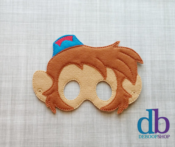 Aladdin's Abu the Monkey Felt Play Mask from DeBoop Shop