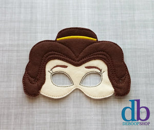 Princess Belle Felt Play Mask