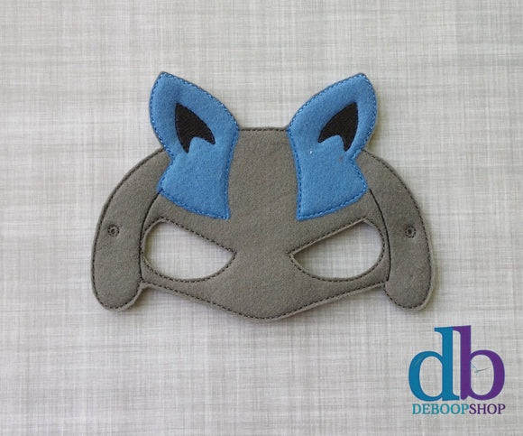 Blue Lue Felt Play Mask