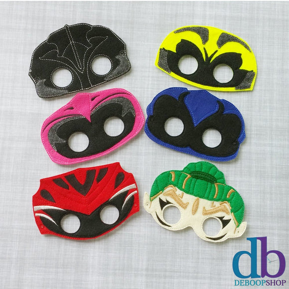 New Power Super Heroes Felt Play Mask Set - Pretend Play Masks - Costume Masks