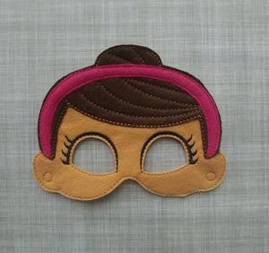 Poppy Girl Felt Play Mask