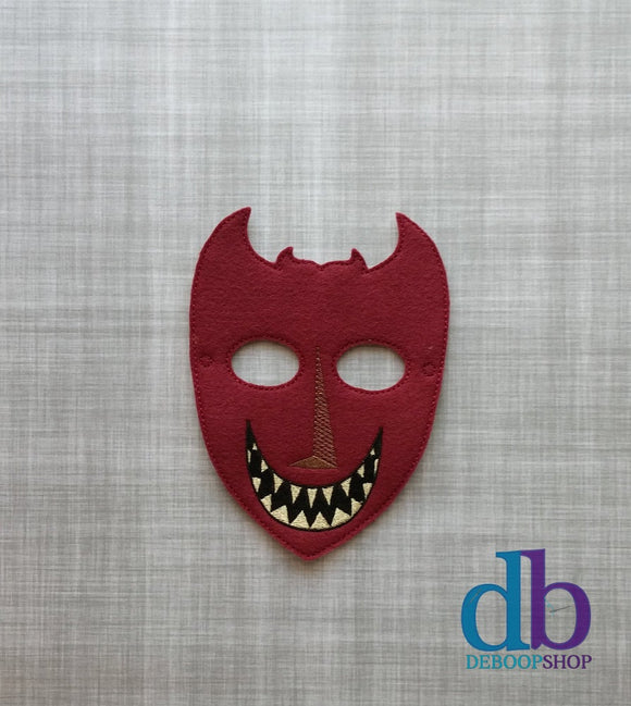 Lock the Red Devil Felt Play Mask