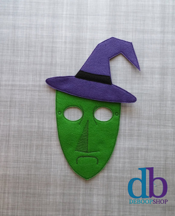 Shock the Purple Witch Felt Play Mask