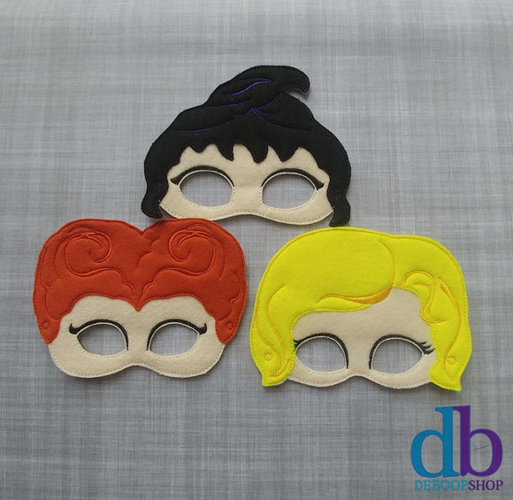 3 Witches Villianous Felt Play Mask Set