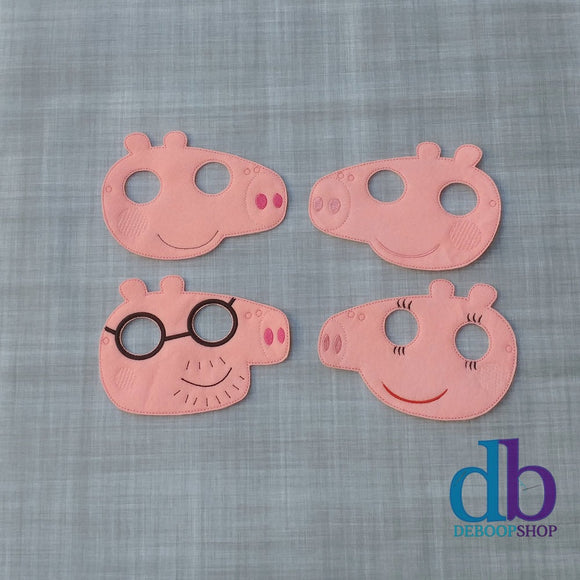 Pep the Pig Family Felt Play Masks