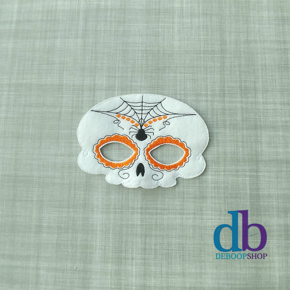 Halloween Sugar Skull Felt Play Mask