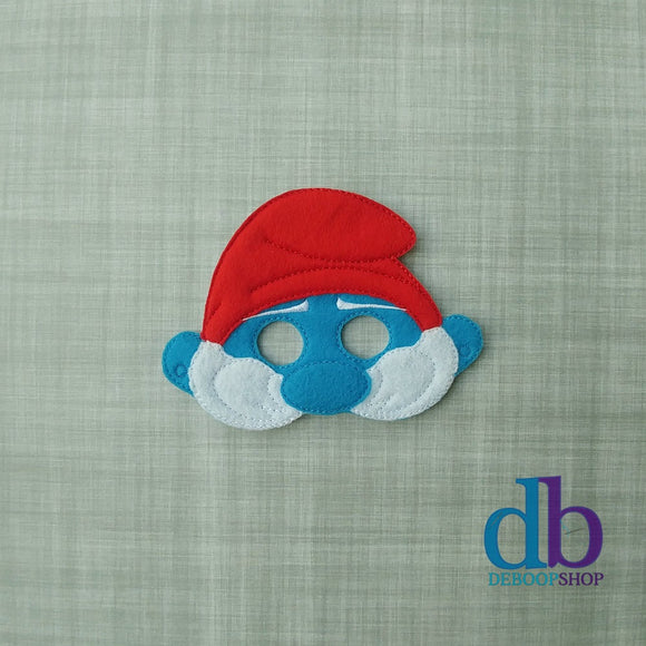Smurf Papa Felt Play Mask