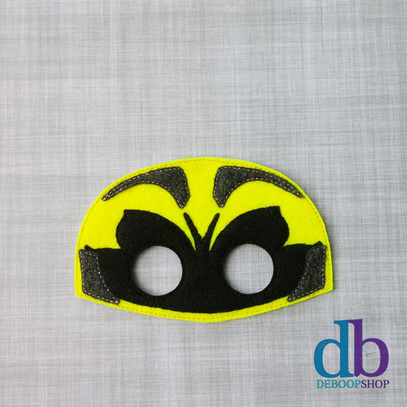 New Yellow Ranger Felt Play Mask