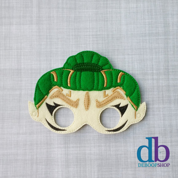 Rita Repulsa Green Power Ranger Felt Play Mask