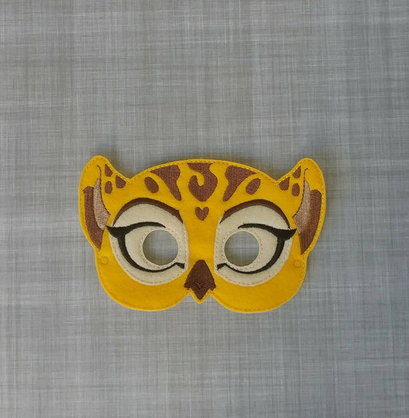 Fuli the Cheetah Felt Play Mask