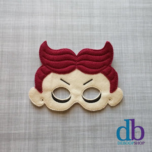 Lock Red Devil Felt Play Mask