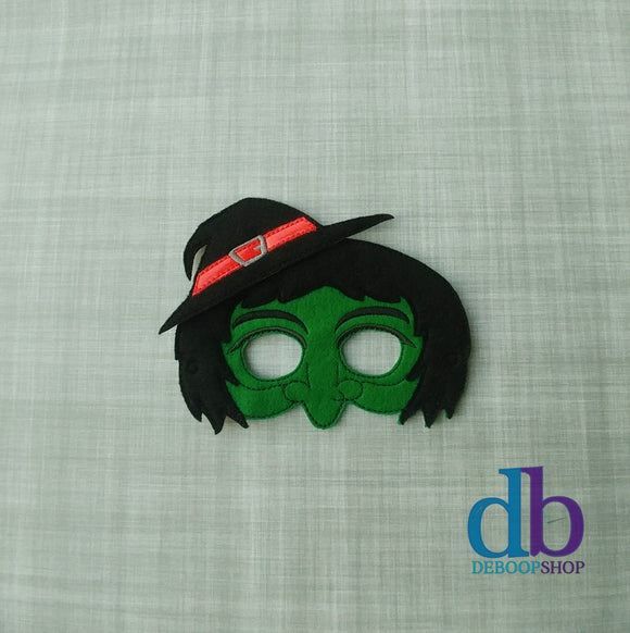 Bad Witch Felt Play Mask from DeBoop Shop