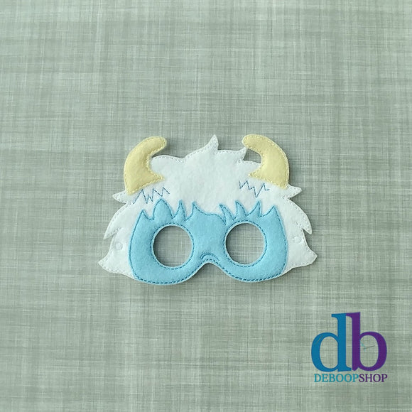 Abominable Snowman Felt Play Mask