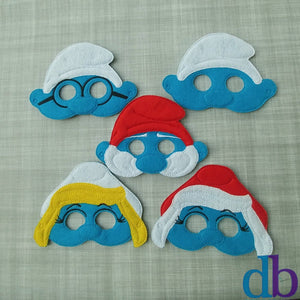 Blue Creatures Felt Play Mask Set