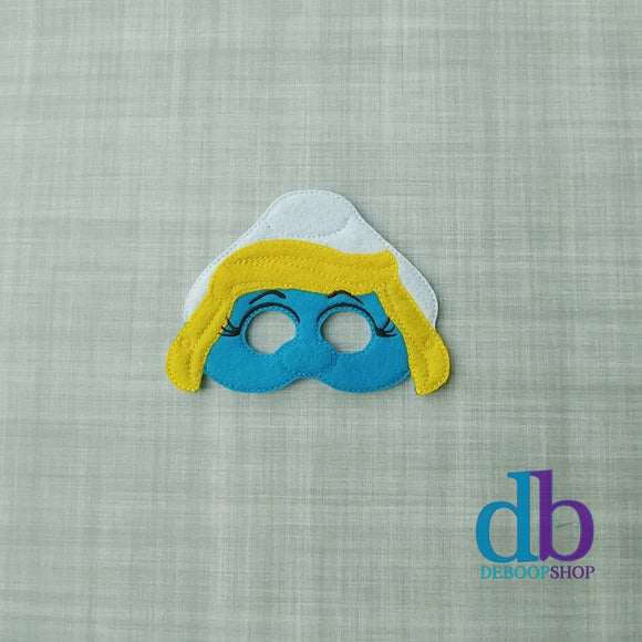 Smurfette Felt Play Mask