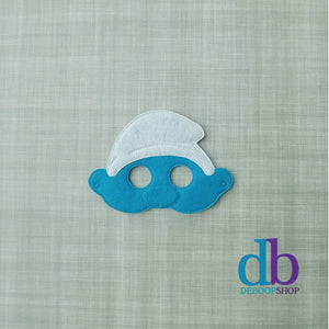 Blue Creature Felt Play Mask