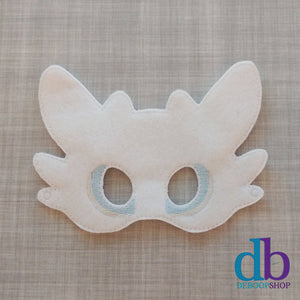 White Dragon Felt Play Mask