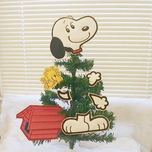White Beagle Tree/Wreath Decoration
