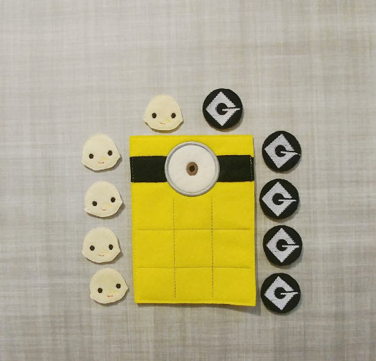 One-Eyed Yellow Guy Tic Tac Toe Board + Pieces
