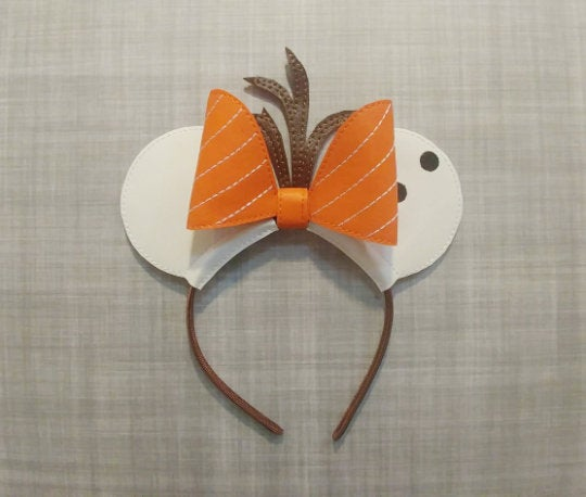 Happy Snowman Mouse Ears Headband