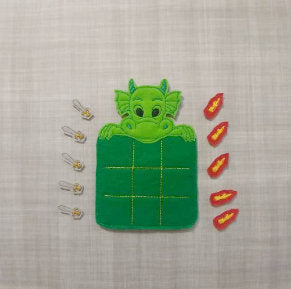 Green Dragon Tic Tac Toe Board + Pieces