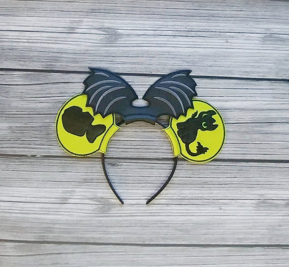 Night Fury and Hiccup Mouse Ears Headband