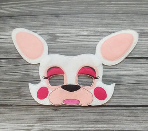 Mangle the White Fox Felt Play Mask