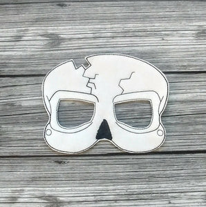 Broken Skull Felt Play Mask