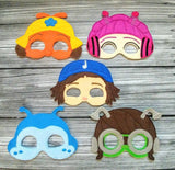 Beat Bugs Characters Felt Play Mask Set from DeBoop Shop