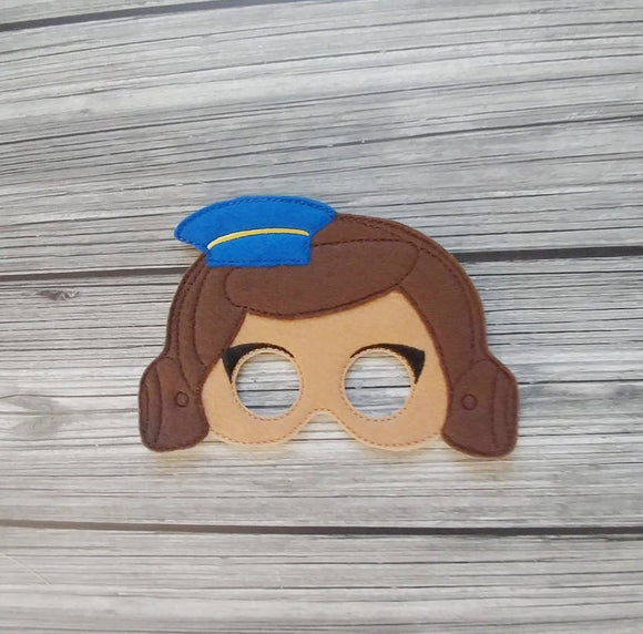 Officer Giggles Felt Play Mask