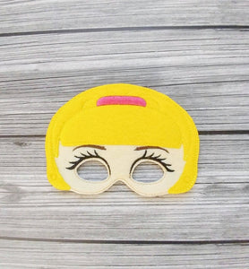 Barbie the Doll Felt Play Mask from DeBoop Shop