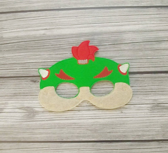 Bowser Jr Felt Play Mask