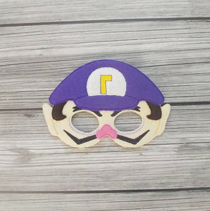 Waluigi Villainous Felt Play Mask