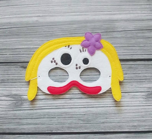 White Knife Toy Felt Play Mask