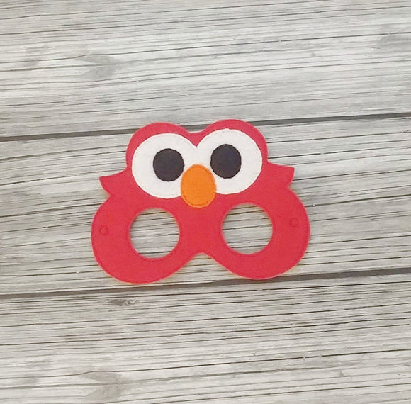 Tickle Me Red Monster Felt Play Mask