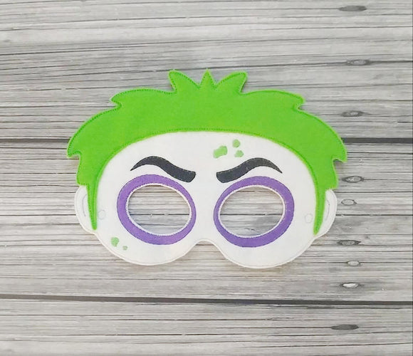 Beetlejuice Felt Play Mask
