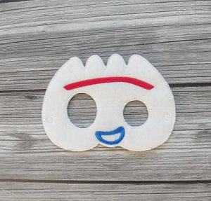 White Fork Felt Play Mask