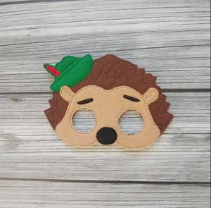 Prickly Hedgehog Felt Play Mask