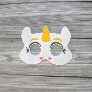 Buttercup the White Unicorn Felt Play Mask