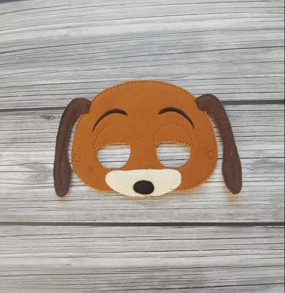Slinky Dog Toy Dachshund Felt Play Mask
