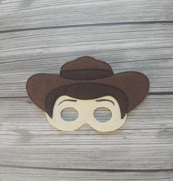 Woody Cowboy Felt Play Mask