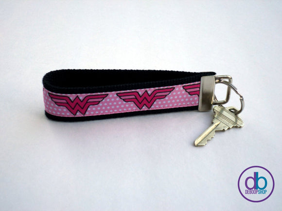 Pink Wonder Woman Keychain