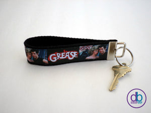 Grease Inspired Ribbon Keychain