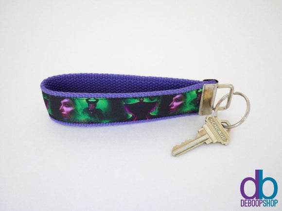 Maleficient Purple Keyring