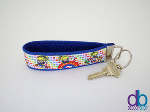Rainbow Brite Inspired Key Fob