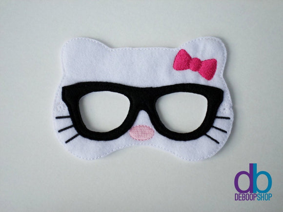 Nerdy Kitty Felt Play Mask