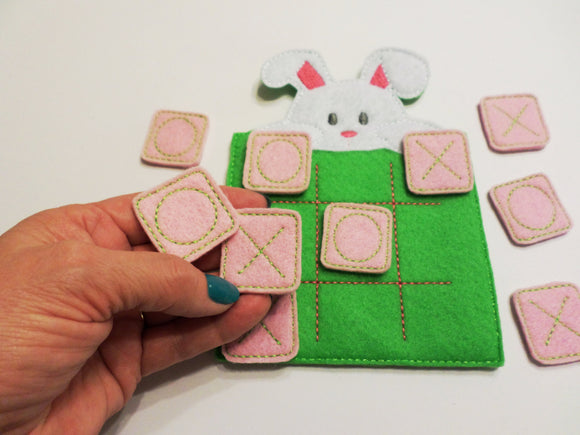 Spring Bunny Tic Tac Toe Board + Pieces